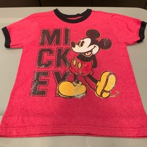 Disney Mickey Mouse Distressed Ringer Tee